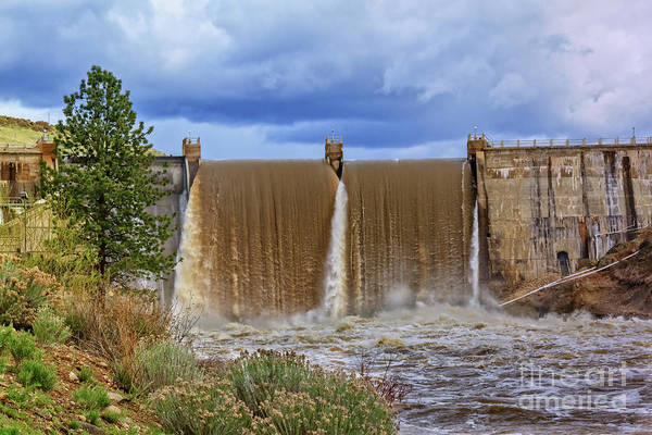 Wall Art - Photograph - Black Canyon Dam Spring Flow by Robert Bales