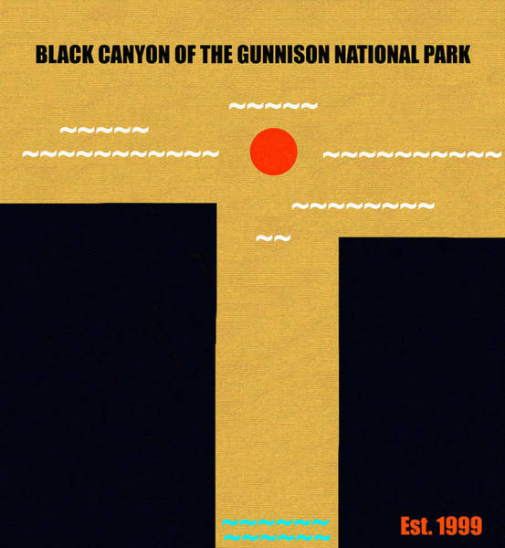 Wall Art - Mixed Media - Black Canyon Of The Gunnison N. P. M Series by David Lee Thompson