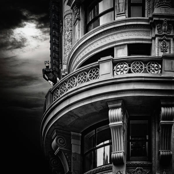 Photograph - Black Cat On A Fifth Avenue Balcony by Chris Lord