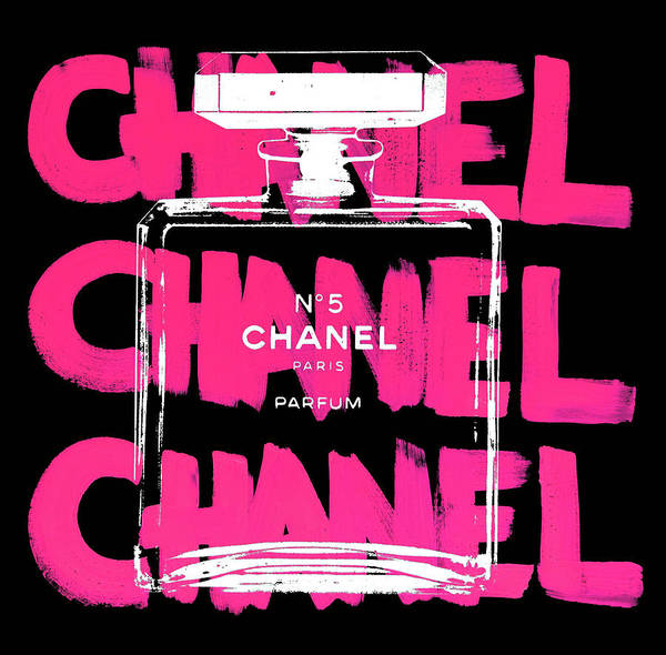 Chanel Mixed Media - Black Chanel Pink  by Shane Bowden