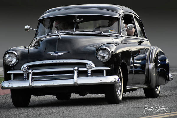 Photograph - Black Chevy Coupe by Bill Dutting