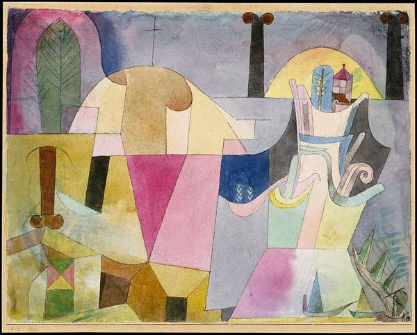 Wall Art - Painting - Black Columns In A Landscape   Paul Klee German Born Switzerland, Munchenbuchsee 1879-1940 Muralt by MotionAge Designs