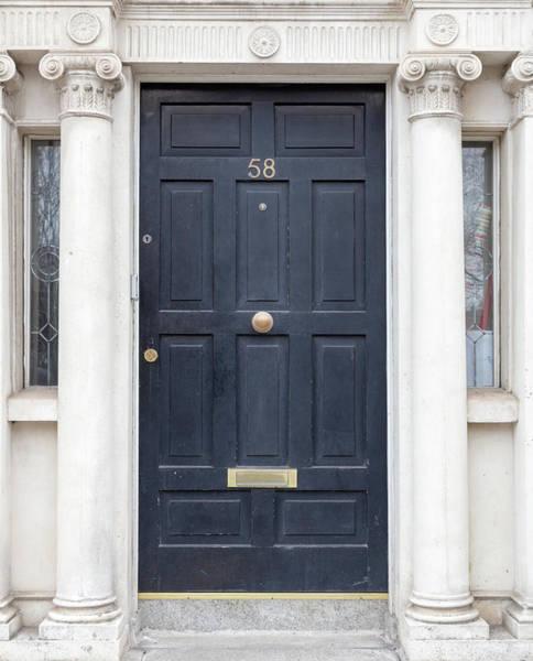 Photograph - Black Door Architecture - Dublin by Georgia Fowler