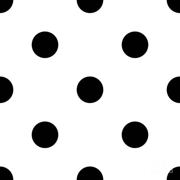 Black Dots On A White Background- Ddh610 Art Print