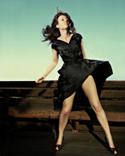 Shoe Photograph - Black Dress, Movement Test by Heather Landis