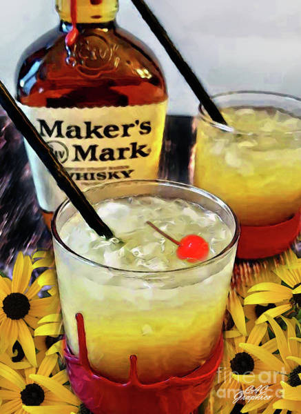 Digital Art - Black-eyed Susan Cocktail by CAC Graphics