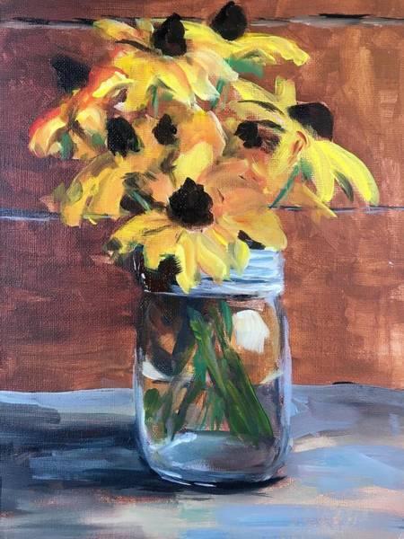 Wall Art - Painting - Black-eyed Susans by Susan Elizabeth Jones