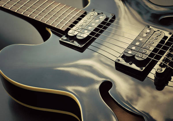Randle Photograph - Black Guitar by Photo - Lyn Randle