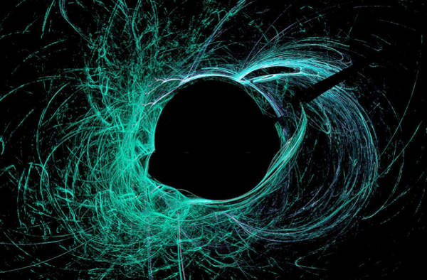Digital Art - Black Hole Abstract Art Green by Don Northup