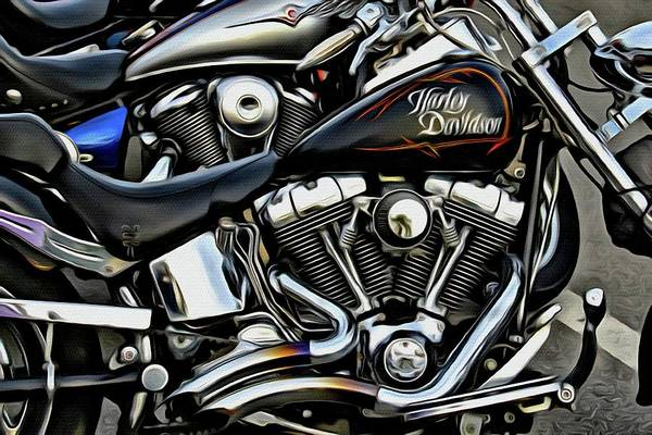 Daytona Bike Week Wall Art - Photograph - Black In A Row by Alice Gipson