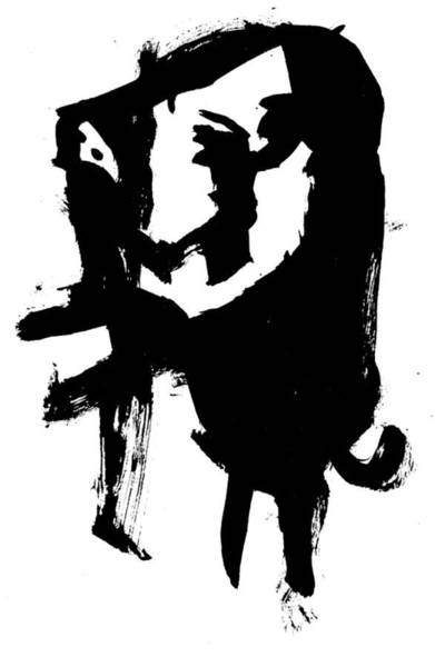Drawing - Black Ink 290319 11 by Artist Dot