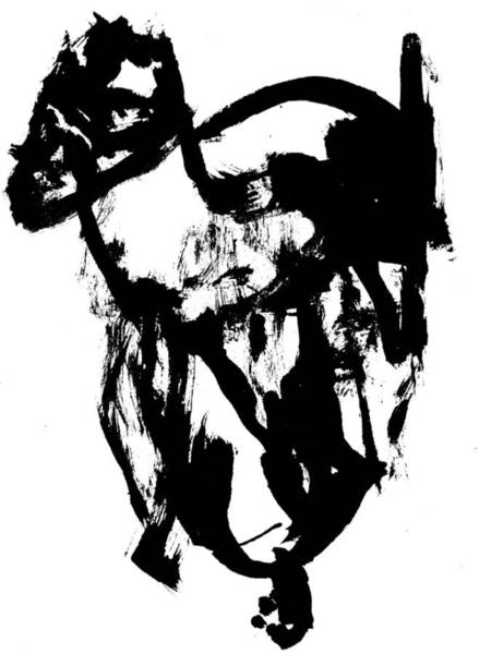 Drawing - Black Ink 290319 5 by Artist Dot