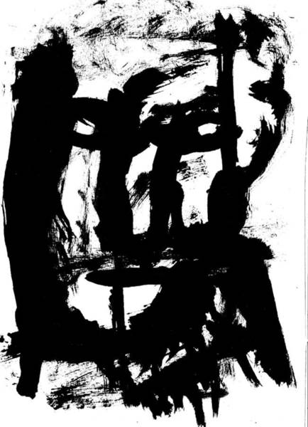 Drawing - Black Ink 290319 6 by Artist Dot