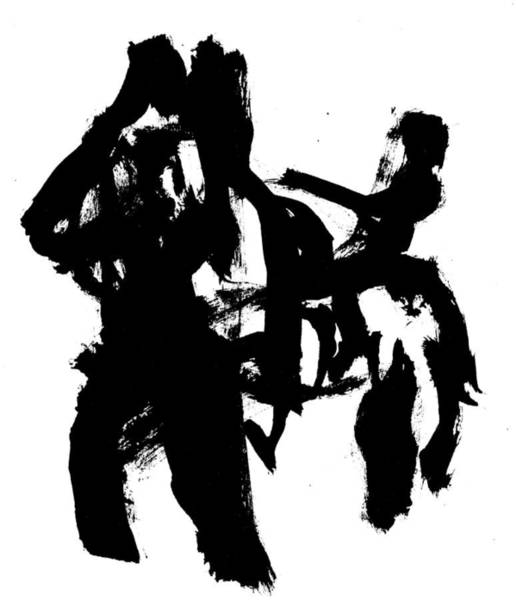 Drawing - Black Ink 290319 7 by Artist Dot