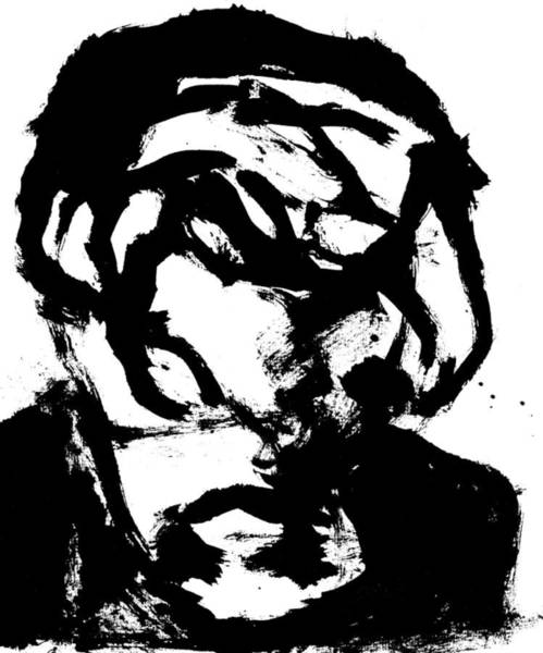 Drawing - Black Ink 290319 9 by Artist Dot
