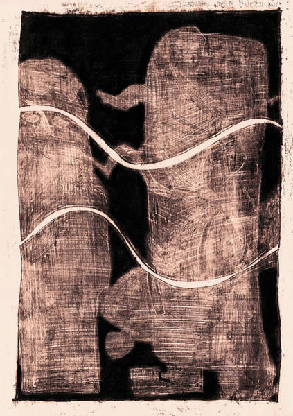Drawing - Black Ivory 1 Original Abstract by Artist Dot