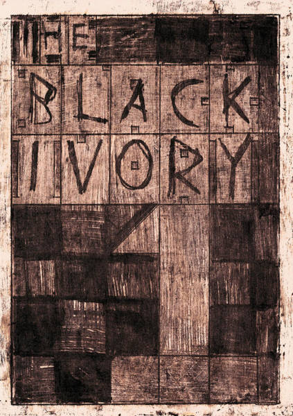 Drawing - Black Ivory 1 Original Cover Design by Artist Dot