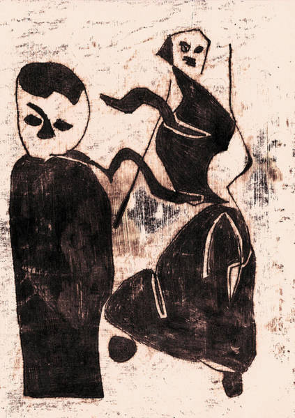 Drawing - Black Ivory 1 Original Dancing Dancer by Artist Dot