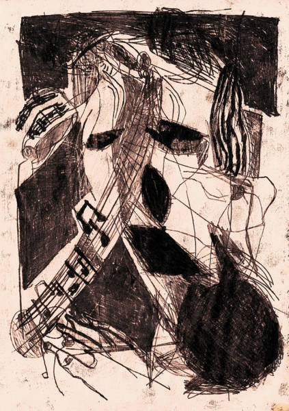 Drawing - Black Ivory 1 Original Musician by Artist Dot