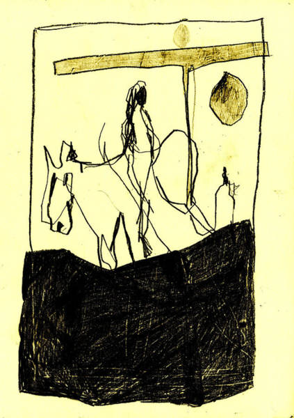 Digital Art - Black Ivory 1 Tinted Pencil Lemon Yellow 19 by Artist Dot