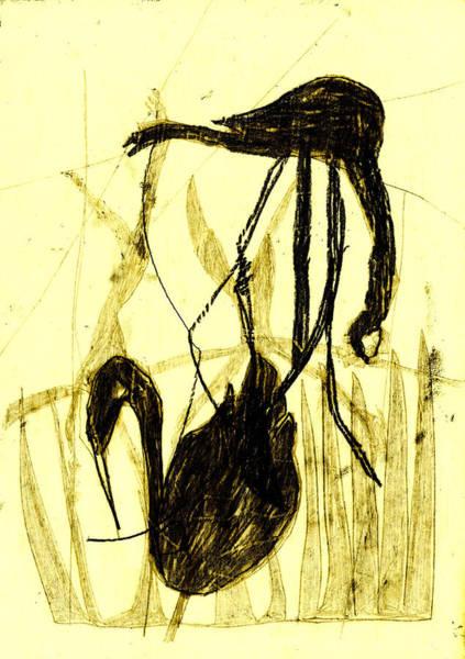 Digital Art - Black Ivory 1 Tinted Pencil Lemon Yellow 21 by Artist Dot