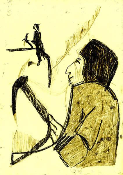 Digital Art - Black Ivory 1 Tinted Pencil Lemon Yellow 23 by Artist Dot