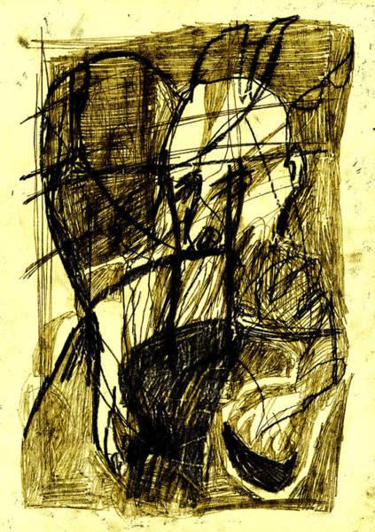 Digital Art - Black Ivory 1 Tinted Pencil Lemon Yellow 24 by Artist Dot