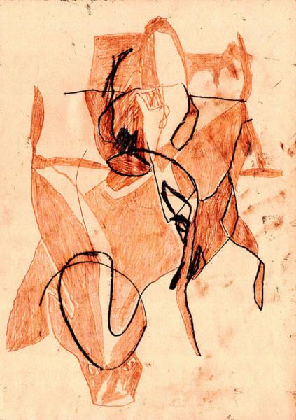 Digital Art - Black Ivory 1 Tinted Pencil Light Red 28 by Artist Dot