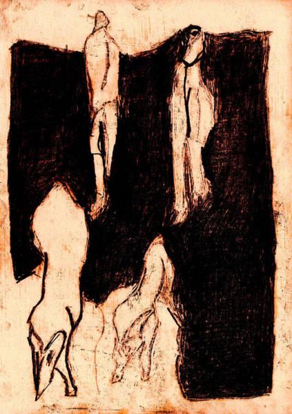 Digital Art - Black Ivory 1 Tinted Pencil Rust 8 by Artist Dot