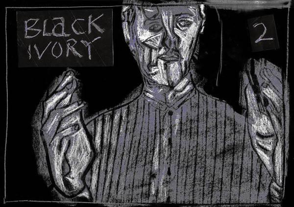 Digital Art - Black Ivory 2 Open by Artist Dot
