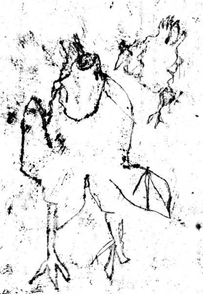 Drawing - Black Ivory Actual 1b12z by Artist Dot
