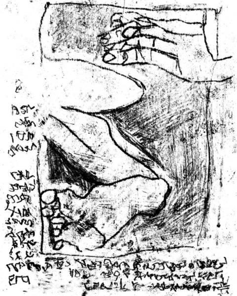 Drawing - Black Ivory Actual 1b18z by Artist Dot