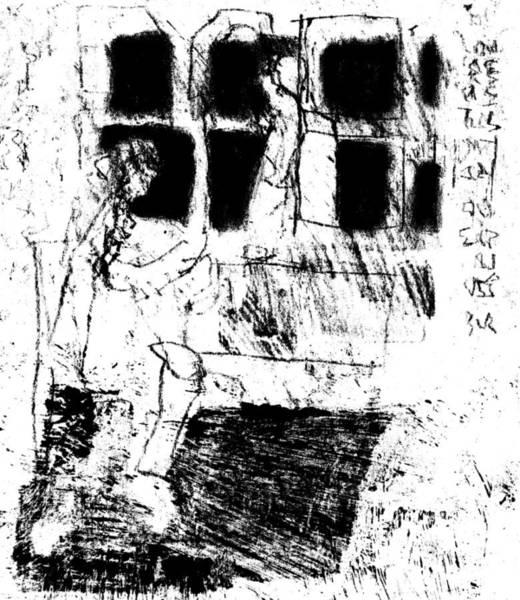 Drawing - Black Ivory Actual 1b19z by Artist Dot