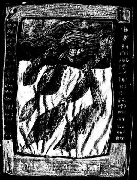 Drawing - Black Ivory Actual 1b22x by Artist Dot