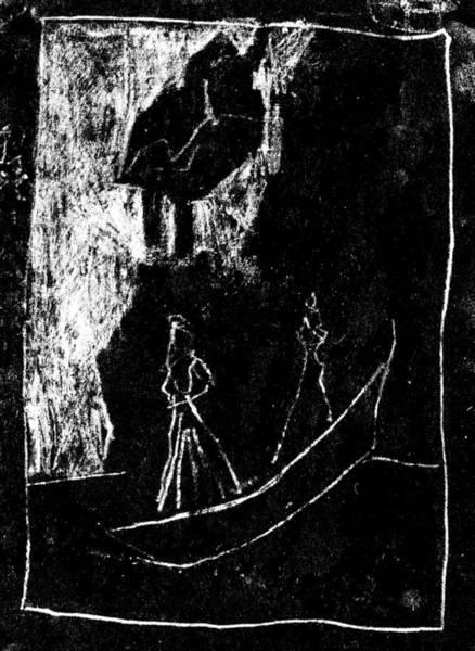 Drawing - Black Ivory Actual 1b33x by Artist Dot