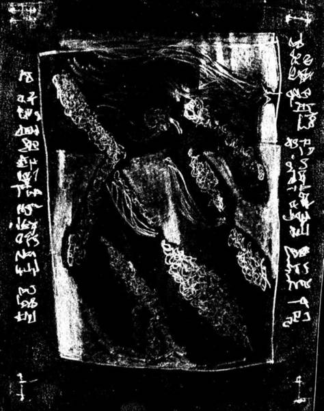 Drawing - Black Ivory Actual 1b3x by Artist Dot