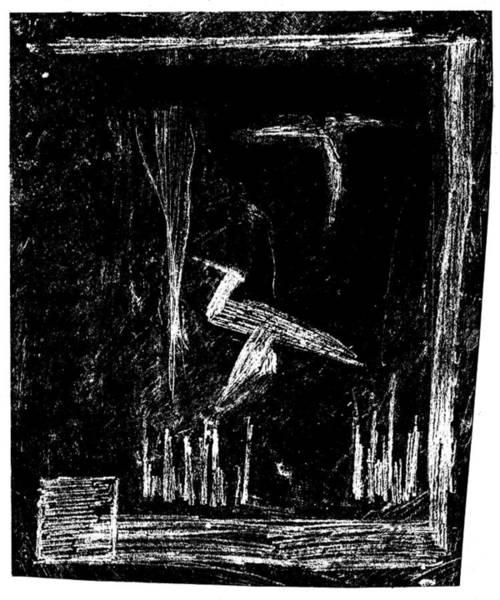 Drawing - Black Ivory Actual 1b51z by Artist Dot