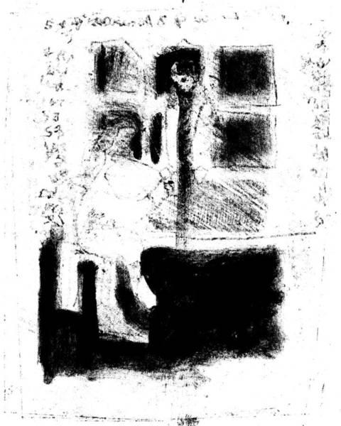 Drawing - Black Ivory Actual 1b58z by Artist Dot