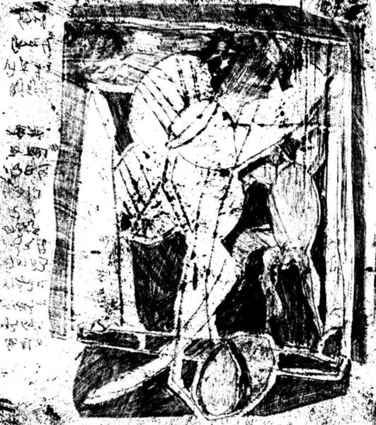 Drawing - Black Ivory Actual 1b5z by Artist Dot