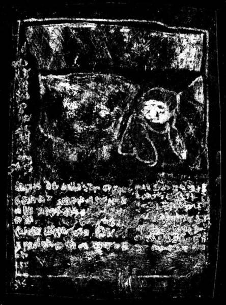 Drawing - Black Ivory Actual 1b68x by Artist Dot