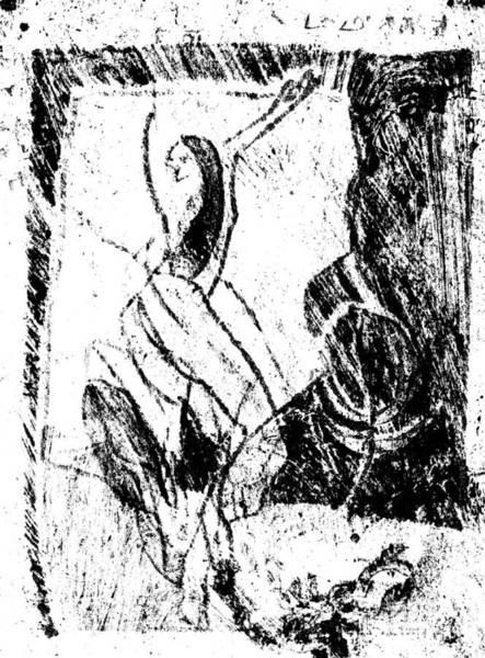 Drawing - Black Ivory Actual 1b74z by Artist Dot