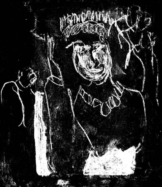 Drawing - Black Ivory Actual 1b9x by Artist Dot