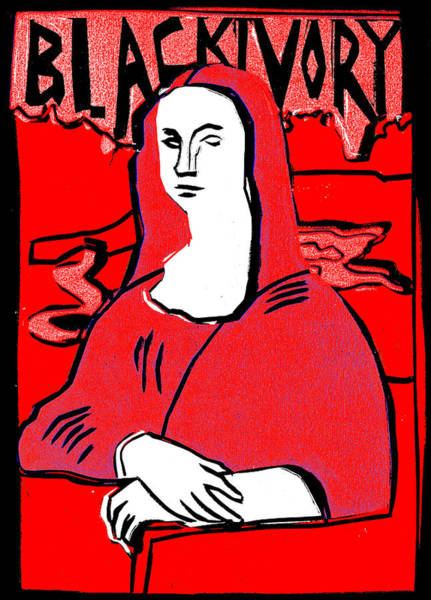 Relief - Black Ivory Mona Lisa 1 by Artist Dot