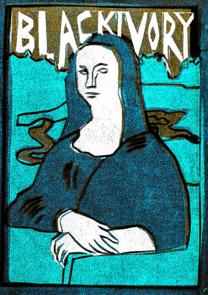 Relief - Black Ivory Mona Lisa 15 by Artist Dot