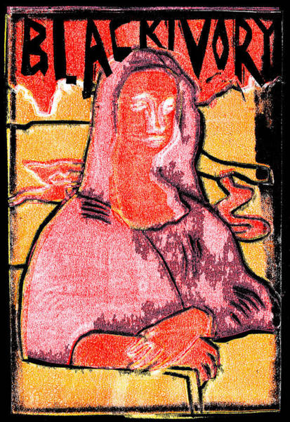 Relief - Black Ivory Mona Lisa 18 by Artist Dot