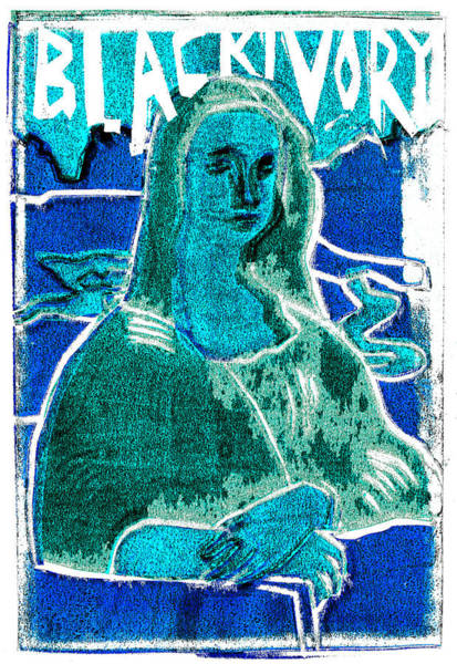 Relief - Black Ivory Mona Lisa 19 by Artist Dot