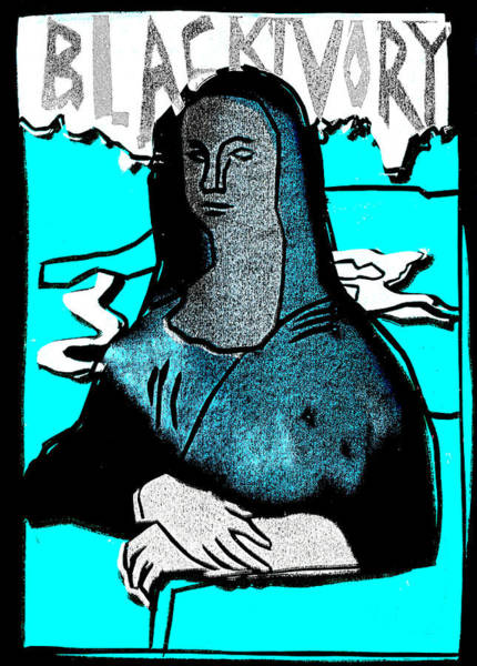 Relief - Black Ivory Mona Lisa 2 by Artist Dot