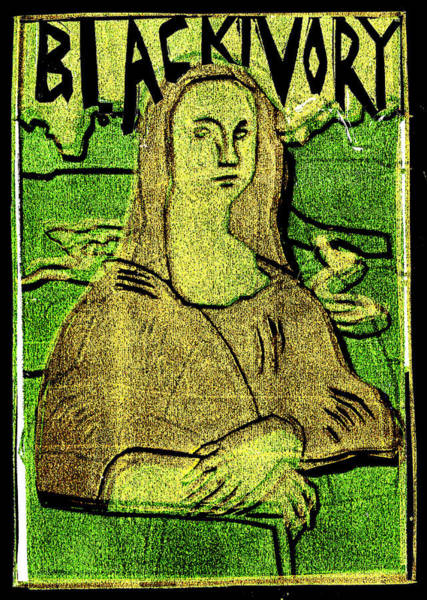 Relief - Black Ivory Mona Lisa 20 by Artist Dot