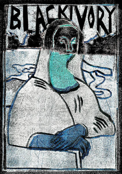 Relief - Black Ivory Mona Lisa 21 by Artist Dot