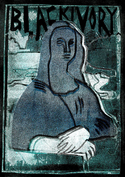 Relief - Black Ivory Mona Lisa 24 by Artist Dot